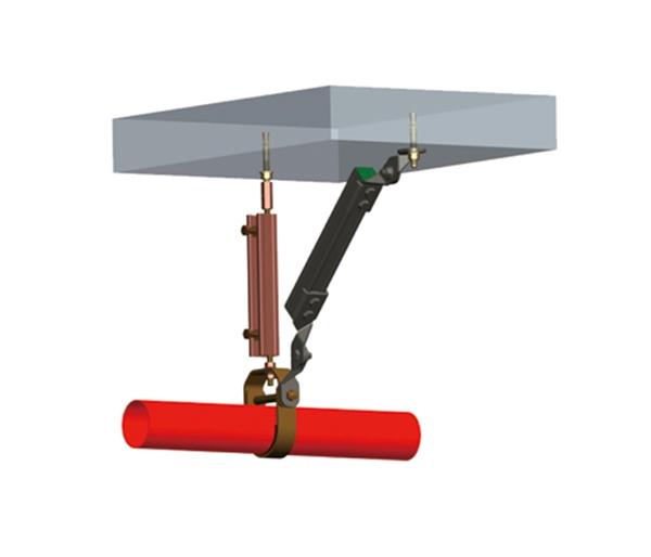 水管單管抗震支吊架